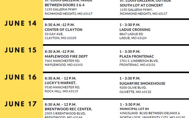 Mobile vaccine schedule