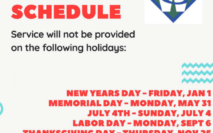 Waste Connections Holiday Schedule